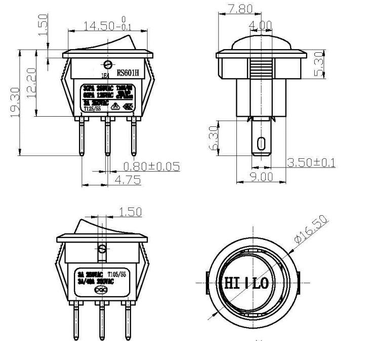 Wholesale 3 Pin Wiring T85 Mini Rocker Switch 3 Pin Wiring