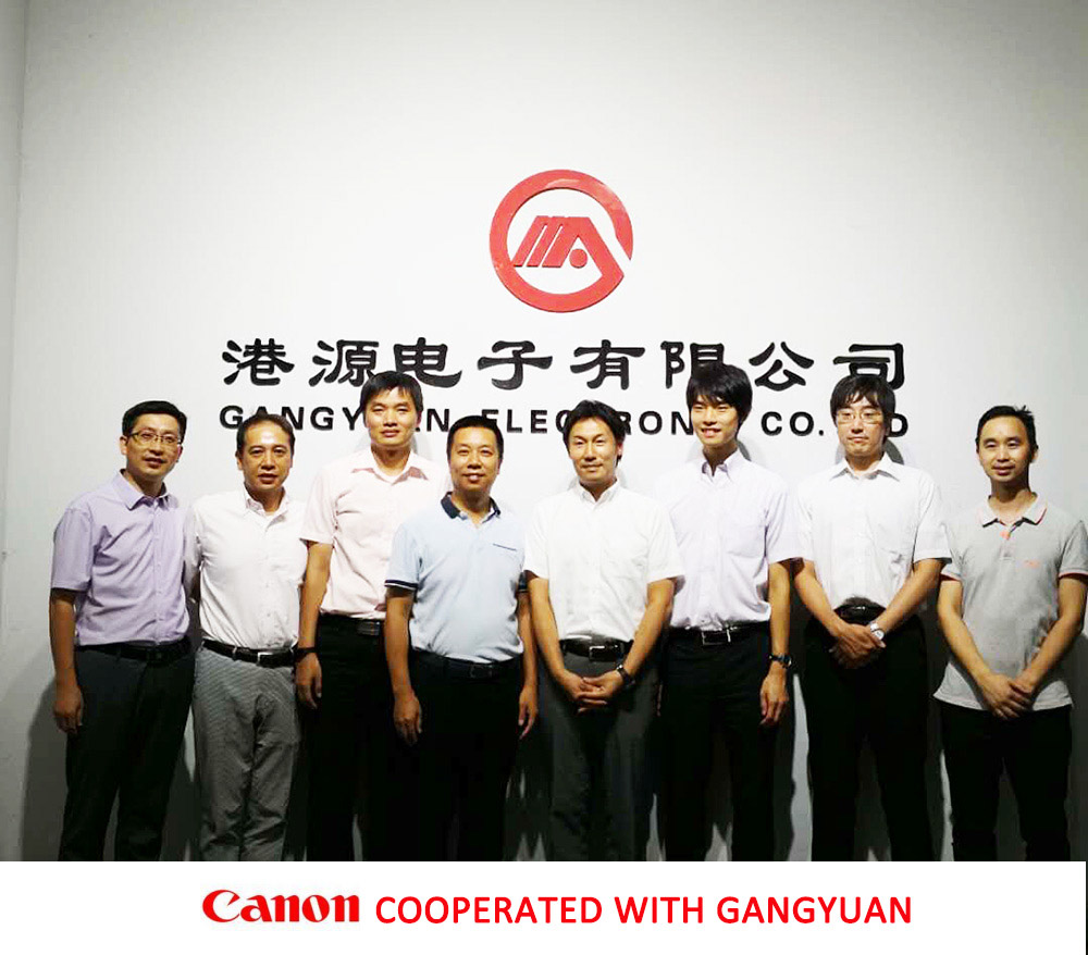 Canon's visit and business cooperation with his tact switch manufacturer