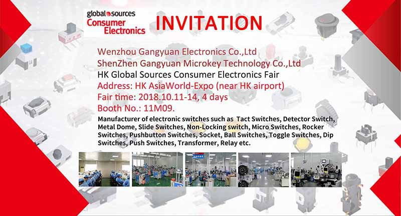 HKF Invitation from Tact switch manufacturer Gangyuan
